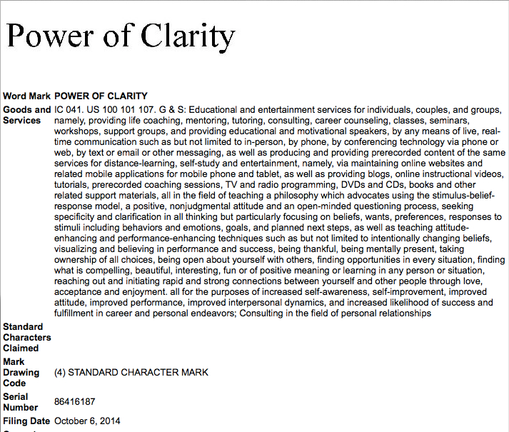2014-10-08 Power of Clarity Image for blog